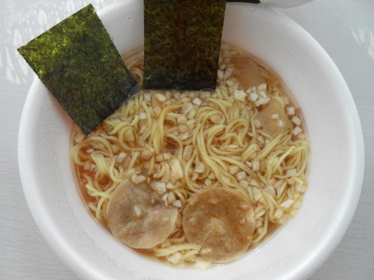 日清麺ニッポン 八王子たまねぎ醤油ラーメン 調理後