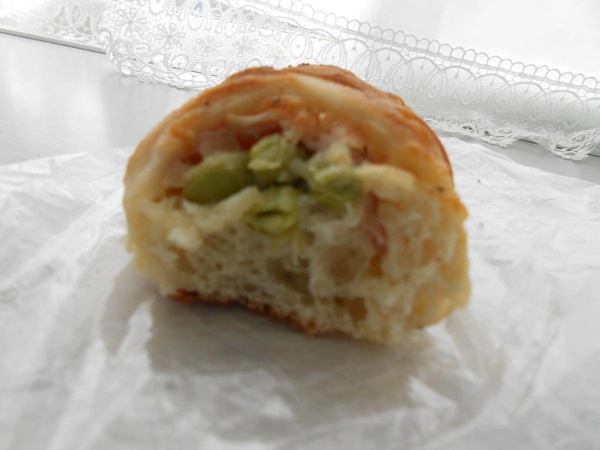 枝豆ベーコンチーズ タロパン 断面