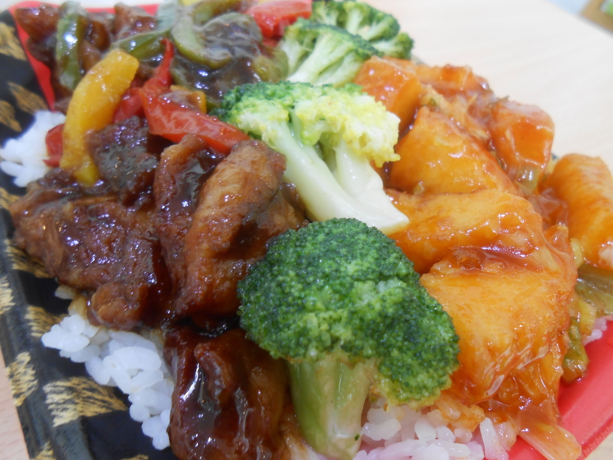 イカチリ&酢鶏弁当 すたみな太郎 メインおかず