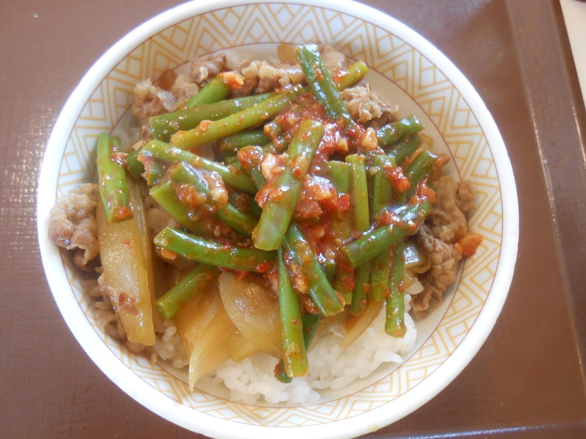すき家 ニンニクの芽牛丼