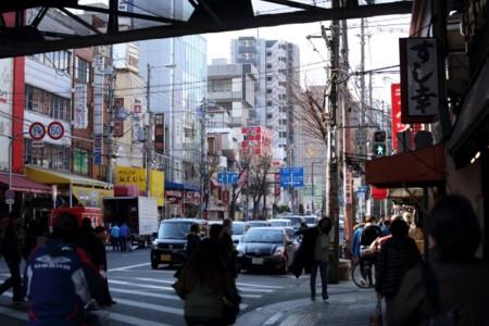 鶴橋駅ガード下から。