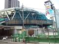 阿倍野歩道橋工事中
