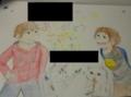 学校のとある先生に贈った絵。男の子めっちゃ偉そう