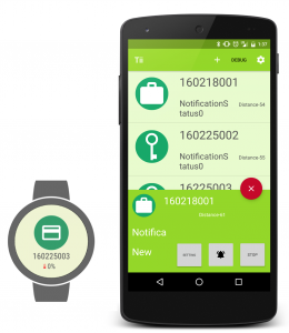 忘れ物防止デバイス - Androidアプリ