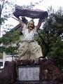 [宮崎]高千穂町高千穂神社西宮手力雄命戸取の像