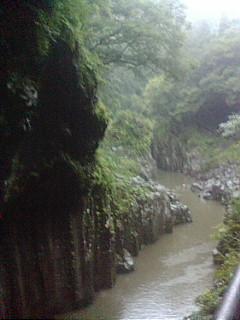 高千穂町降雨時の高千穂峡