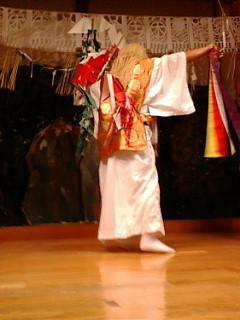 高千穂神社神楽殿 観光用夜神楽 手力雄の舞
