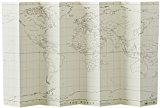 ジオグラフィア 世界地図 自立式 ブランク M-BL