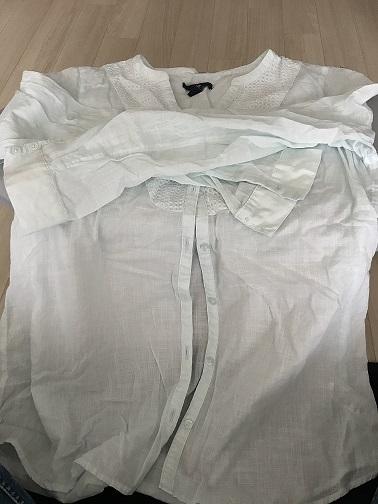 しわくちゃのシャツ