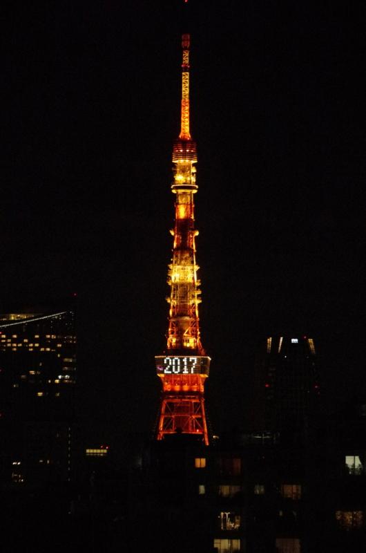 f:id:gyoranzaka:20170101224641j:plain 年始「2017」ライトアップ