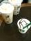 アップルクランブルラテ、アイスと子どもが作ったフラペチーノ