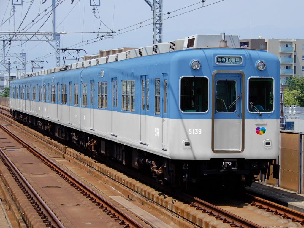 ウソ電 阪神5131形 ジェットカー新塗装