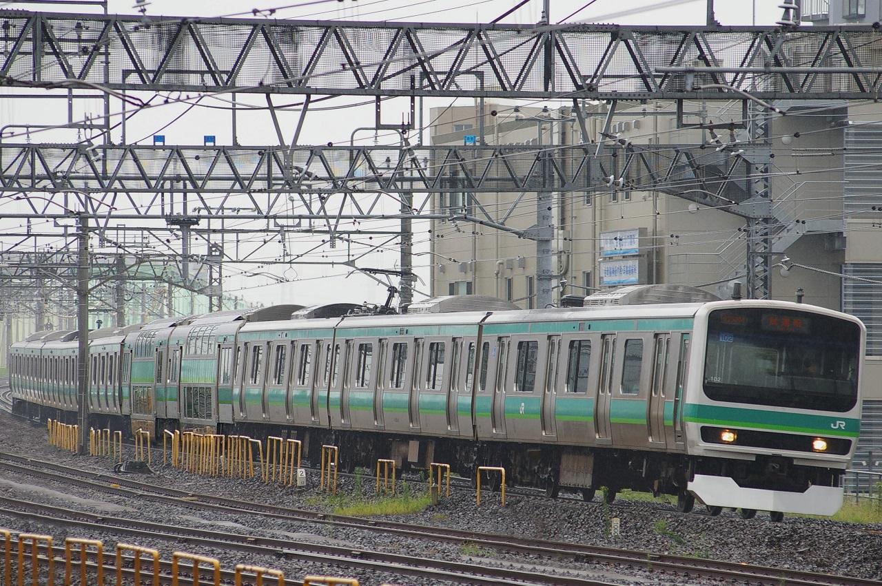 ウソ電 常磐快速線E231系 グリーン車連結