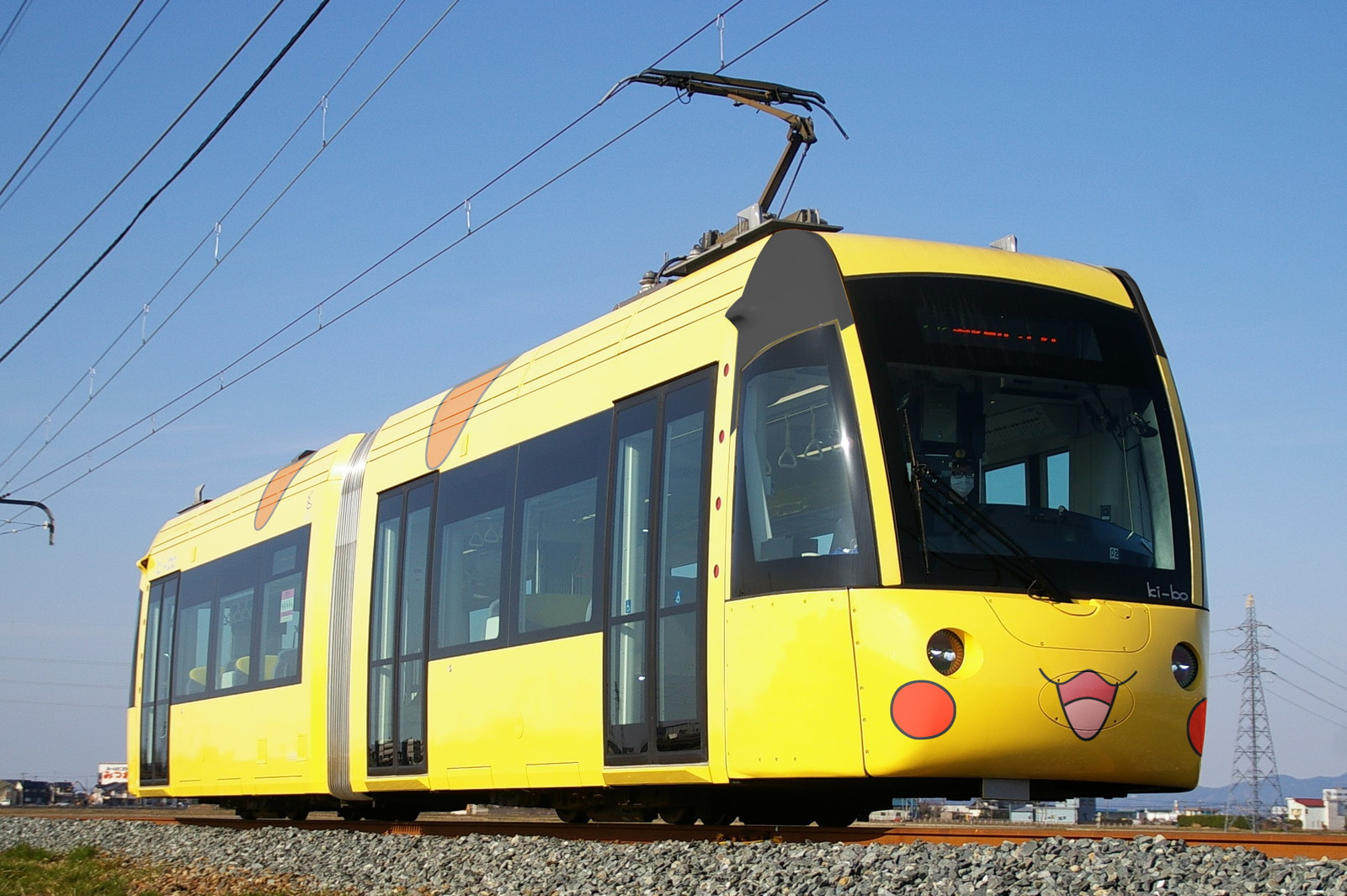 (使用例のウソ電)えちぜん鉄道L形のピカチュウデザイン