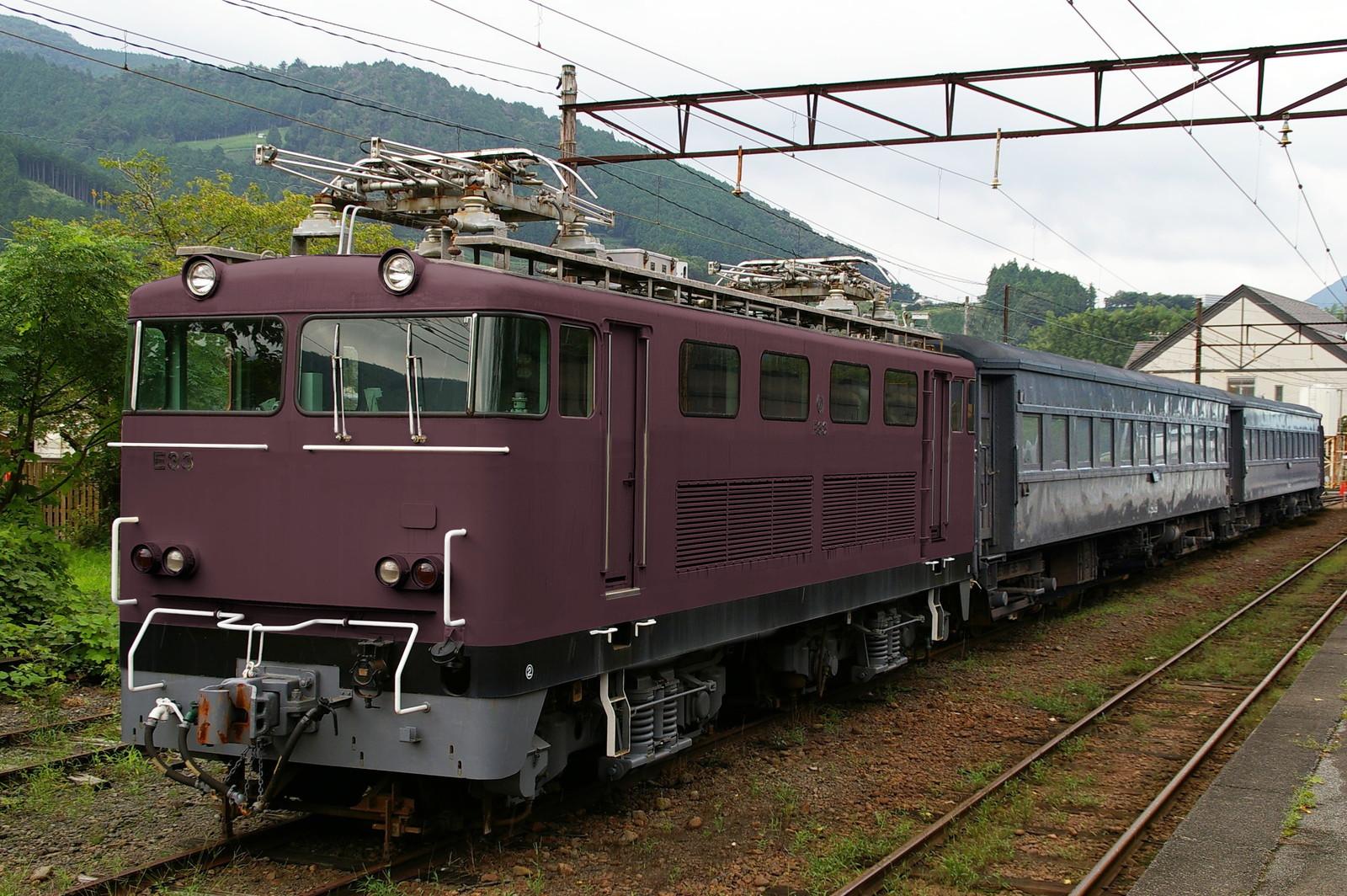 ウソ電 大井川鐵道E31形 ぶどう色