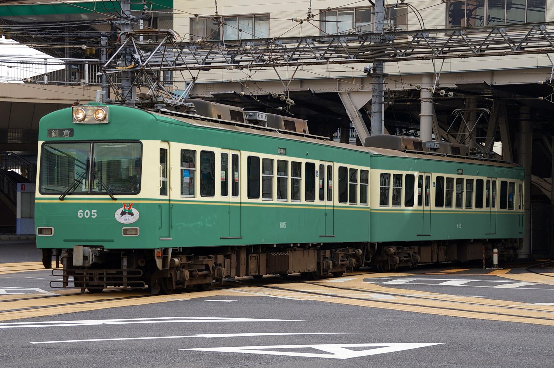 ウソ電 京阪石山坂本線600形 江ノ電色