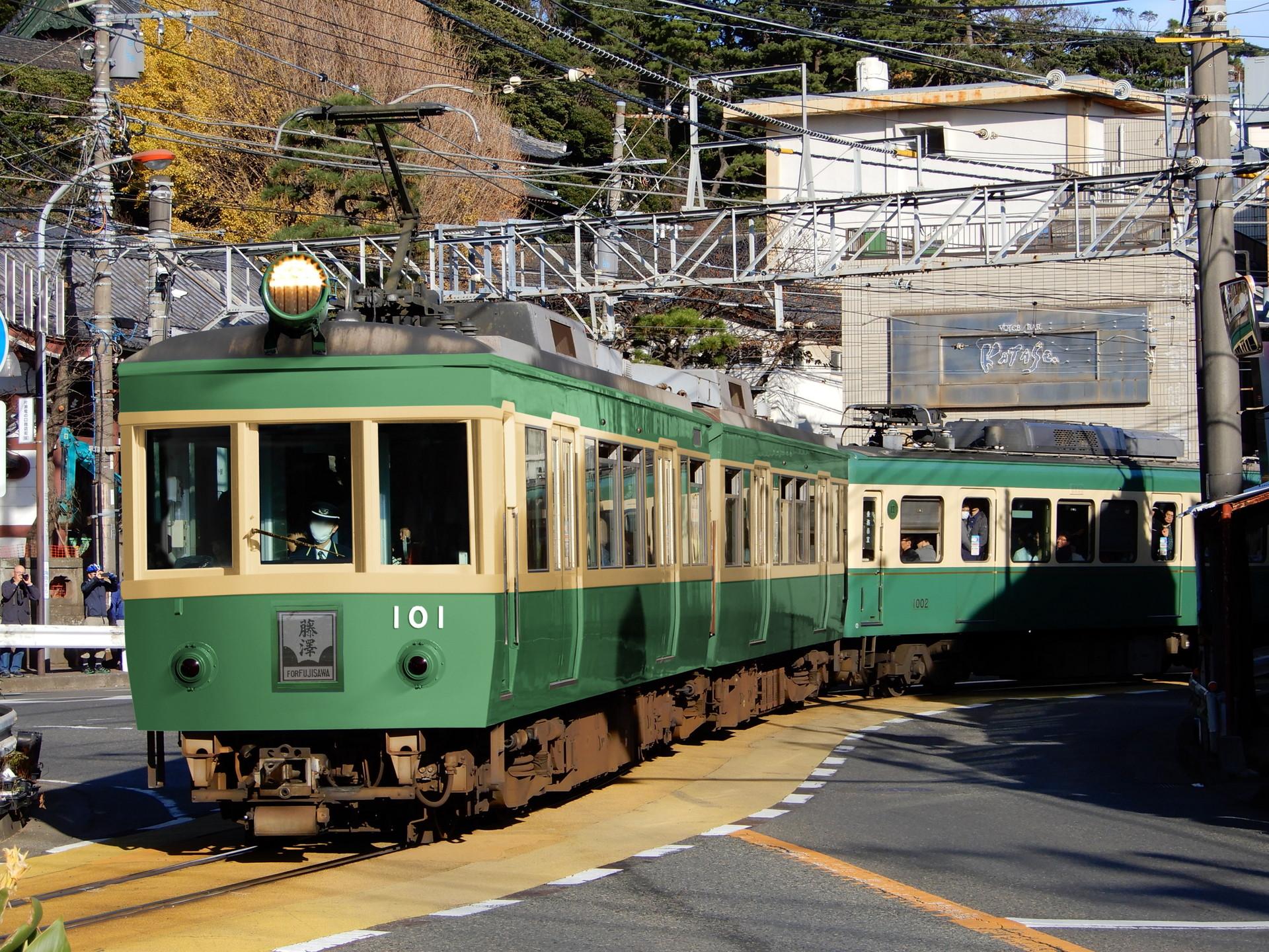 江ノ電新型車両のウソ電