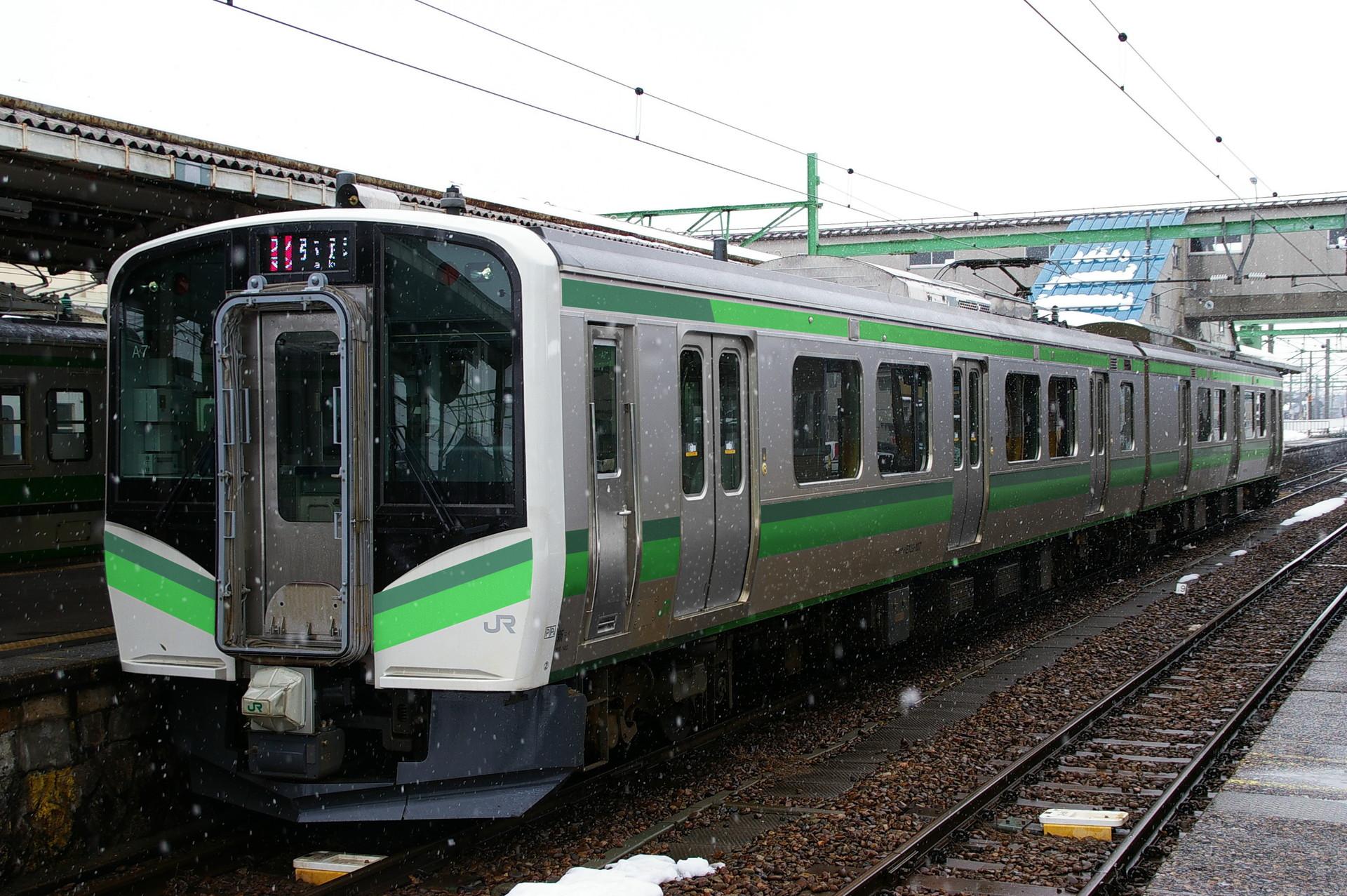 E129系初期新潟色のウソ電