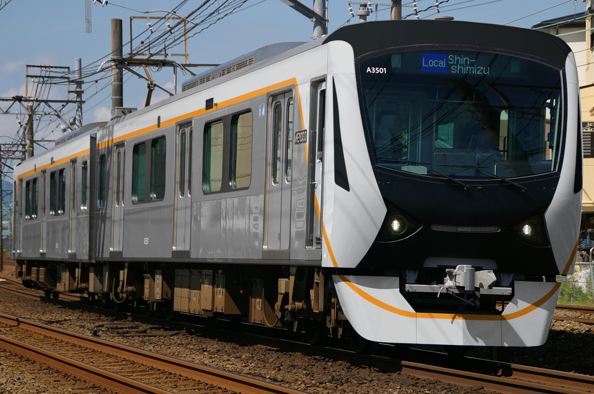 (使用例のウソ電)静岡鉄道A3000系の東急6020系色