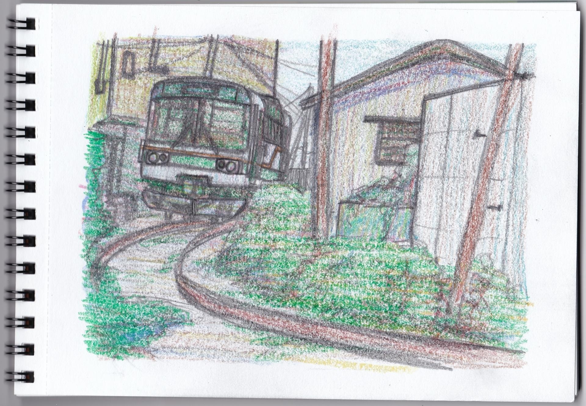 紀州鉄道レールバスのイラスト