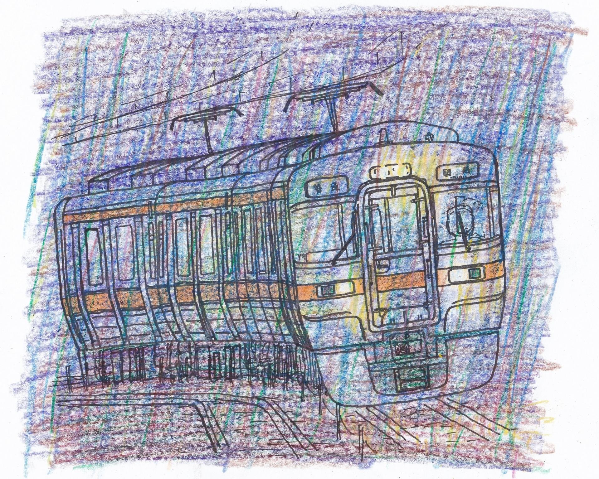 313系電車のイラスト