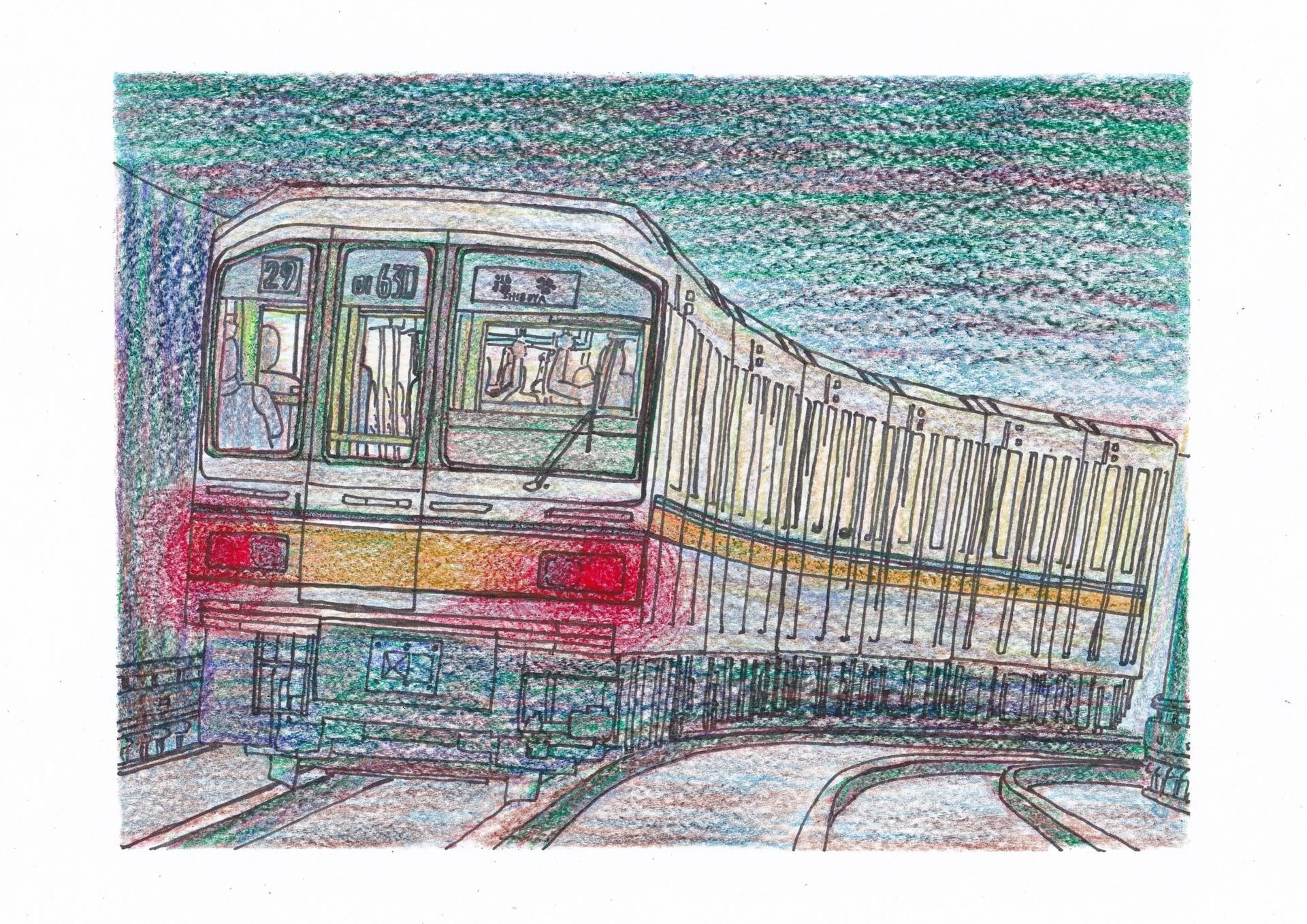東京メトロ01系のイラスト