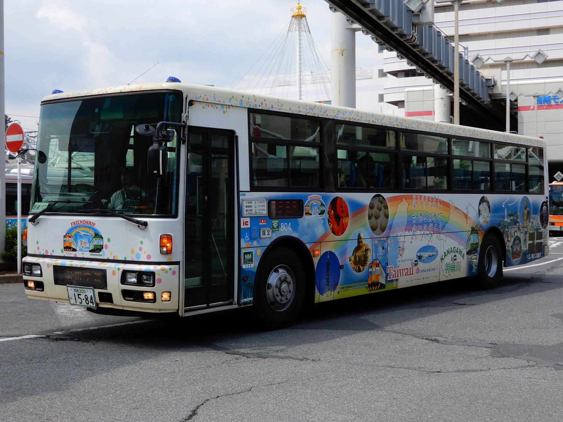 江ノ電バスの台湾ラッピング