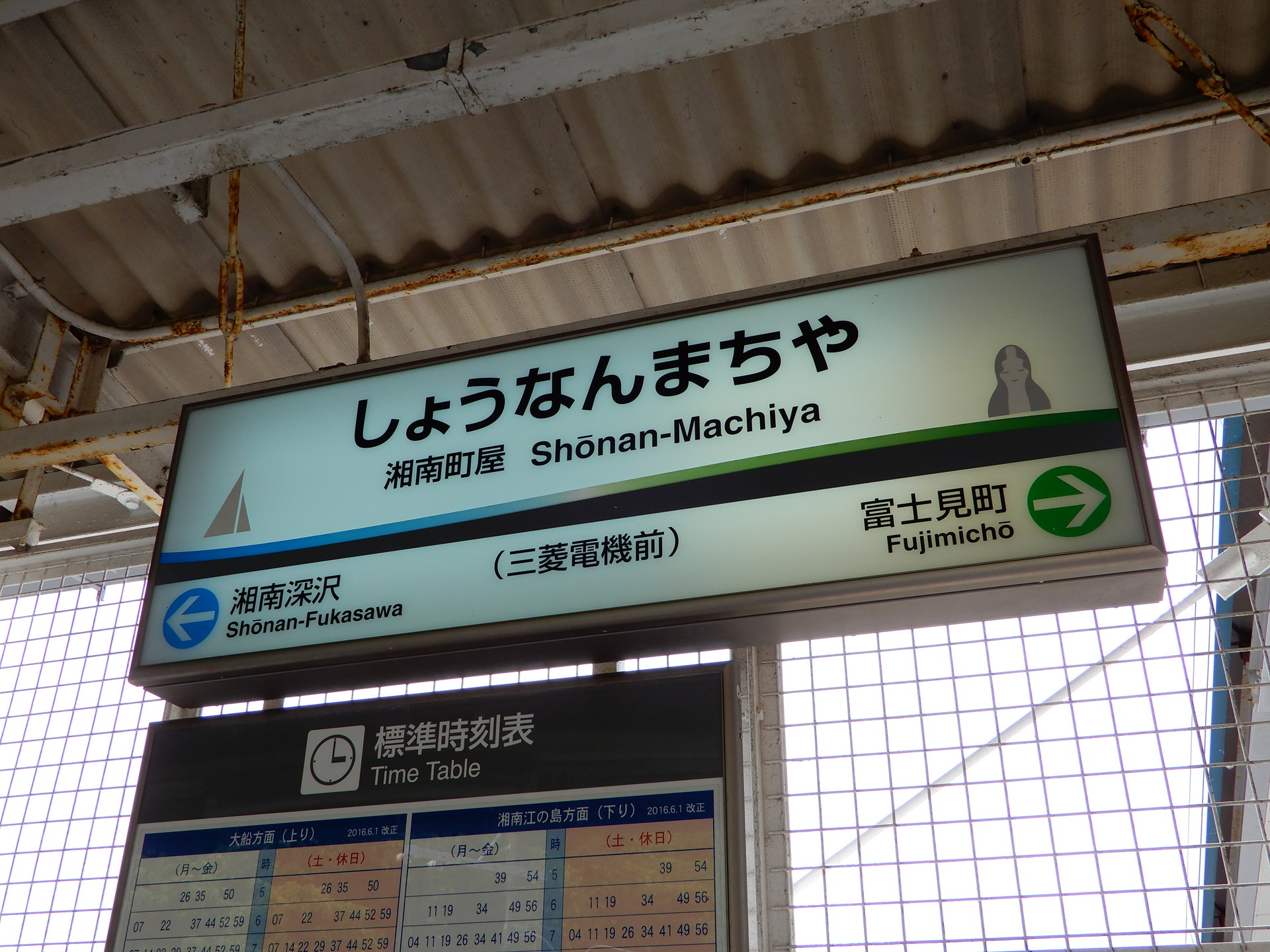 湘南町屋駅の駅名標