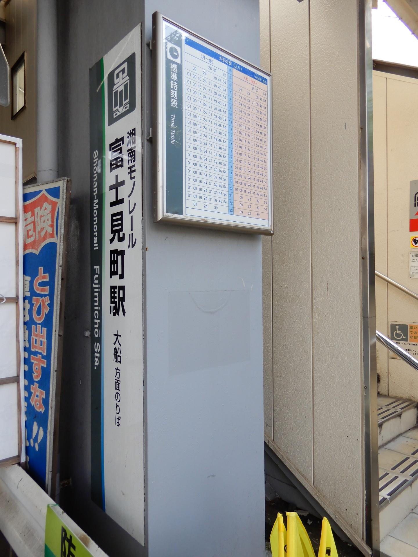富士見町駅の駅看板