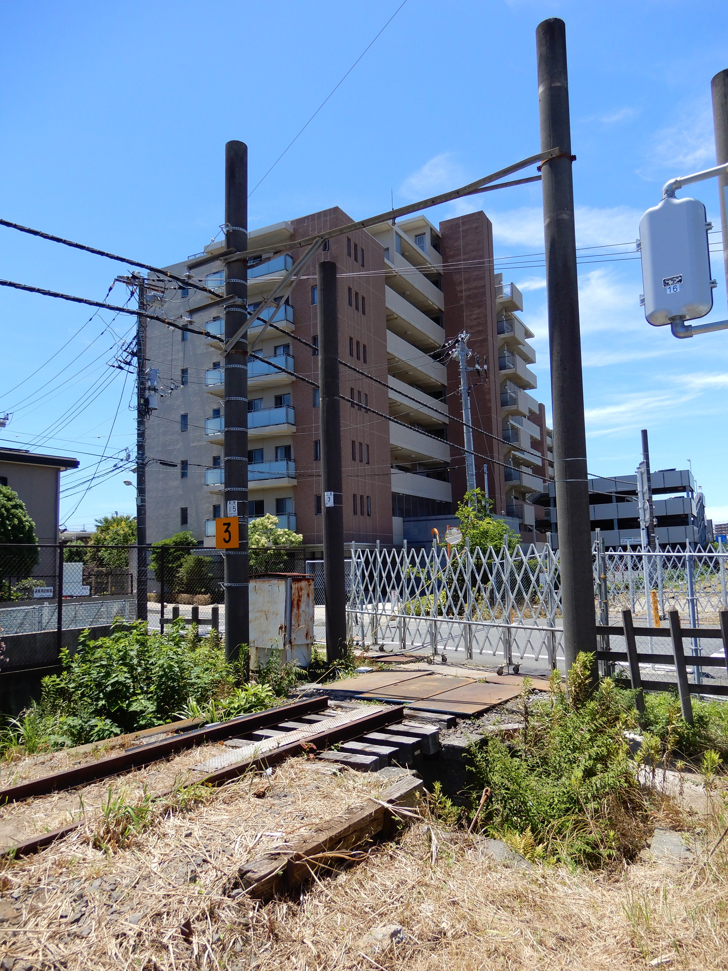 鎌倉武道館東付近の踏切跡
