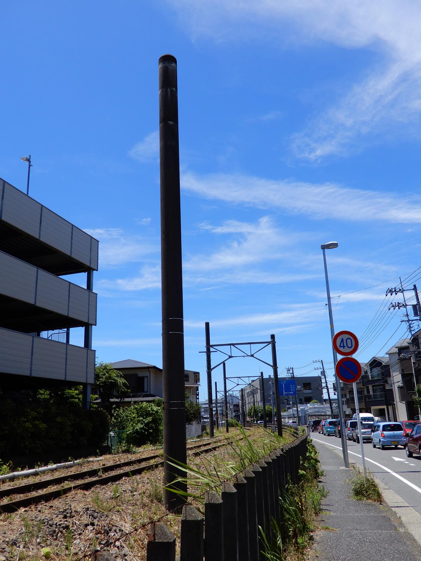 鎌倉武道館東付近の柱