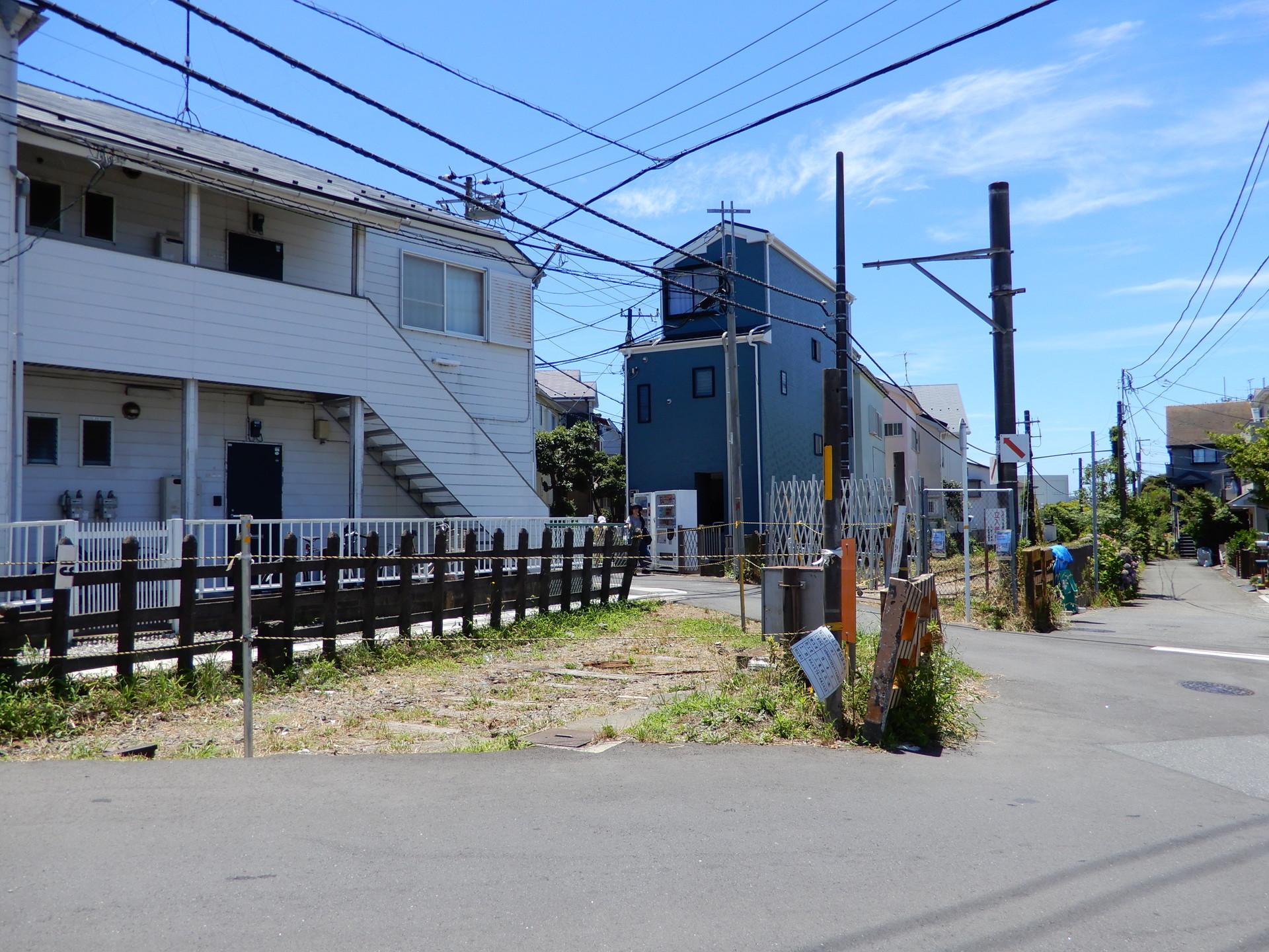 妙法寺付近の踏切跡