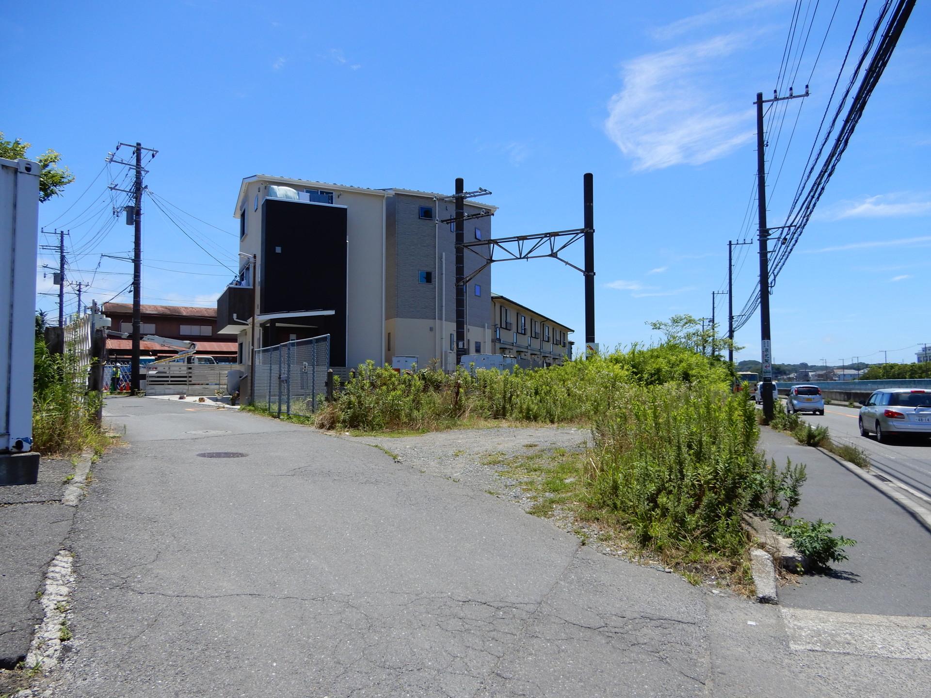 JR大船工場引込線の最後の踏切跡