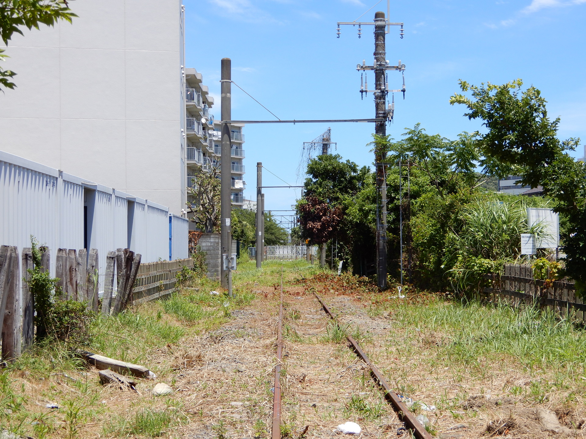 JR大船工場引込線の踏切跡