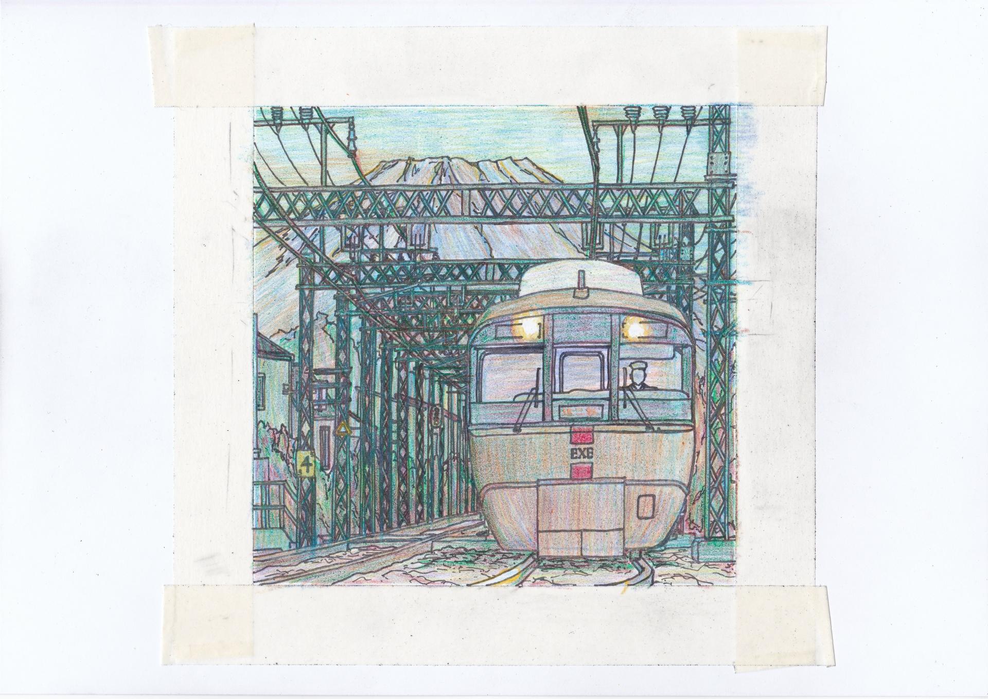 小田急ロマンスカーEXEのイラスト