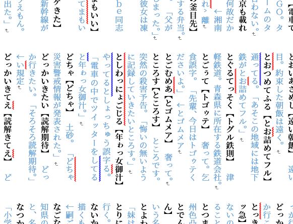 誤字辞典のページサンプル