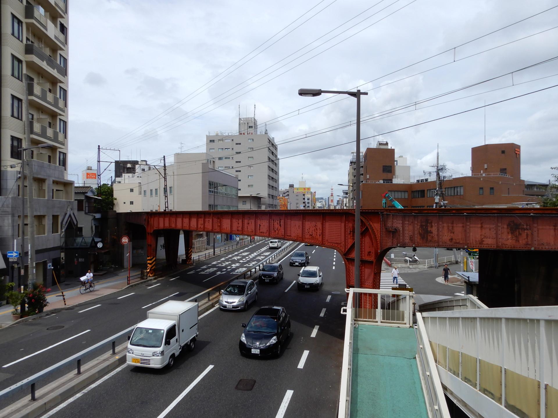 汐見橋線の鉄橋