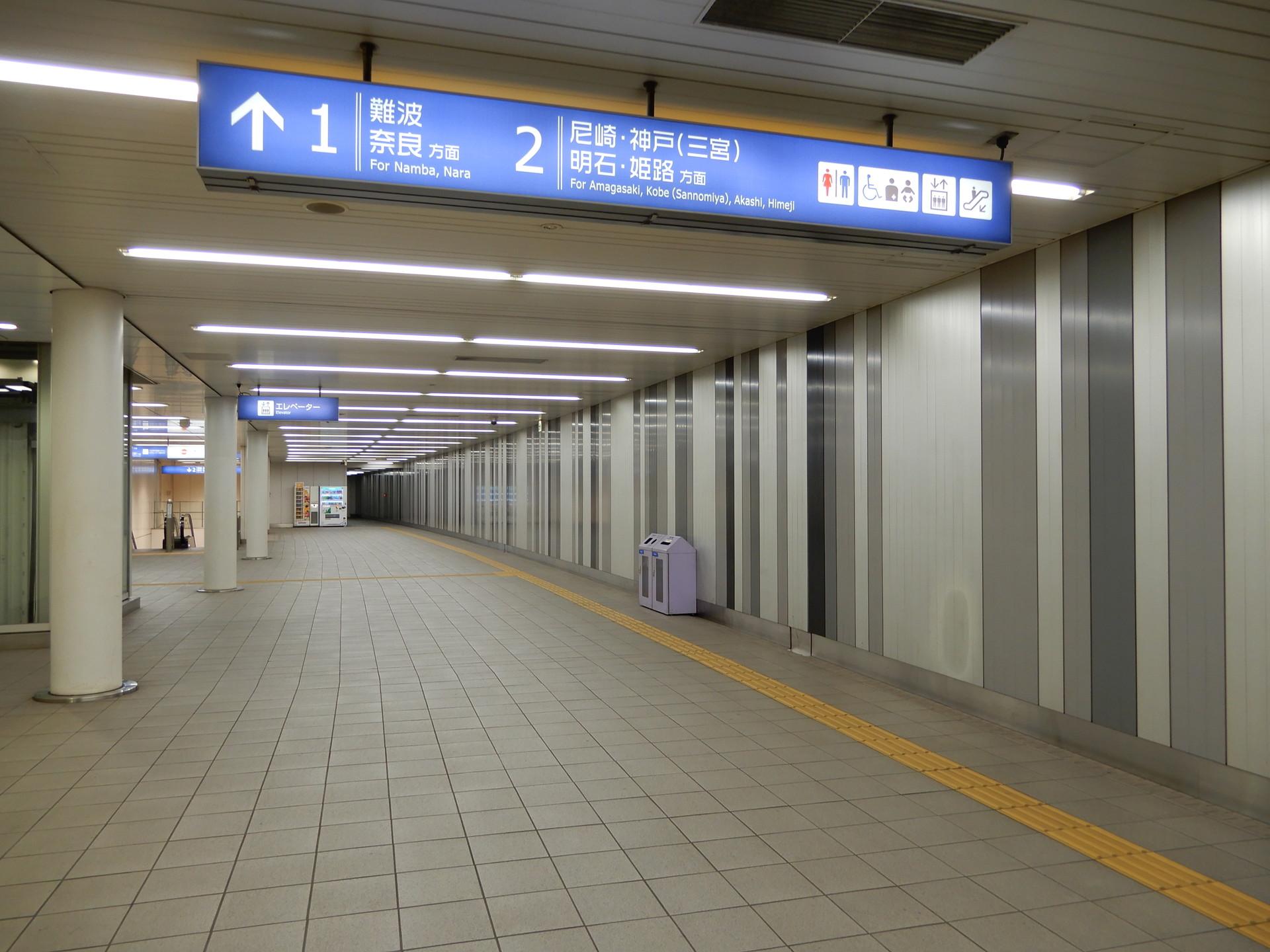 阪神桜川駅の改札内