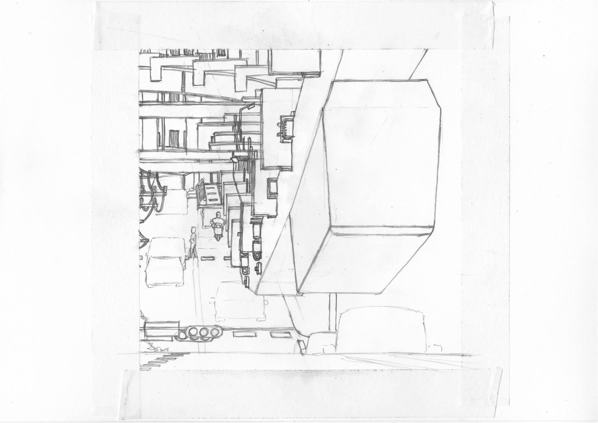 湘南モノレールの柱を描画中