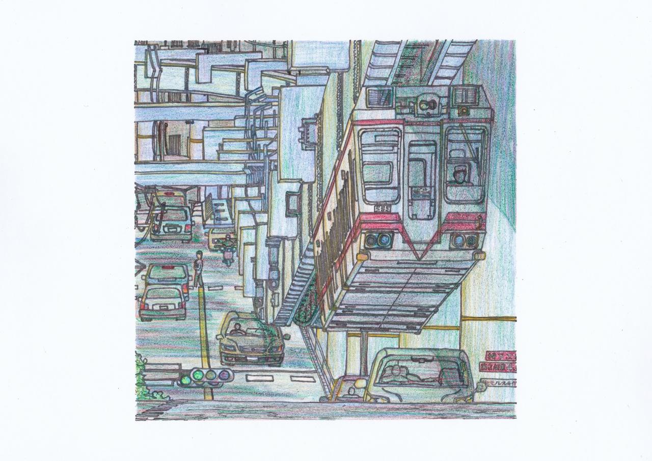 湘南モノレール550形のイラスト
