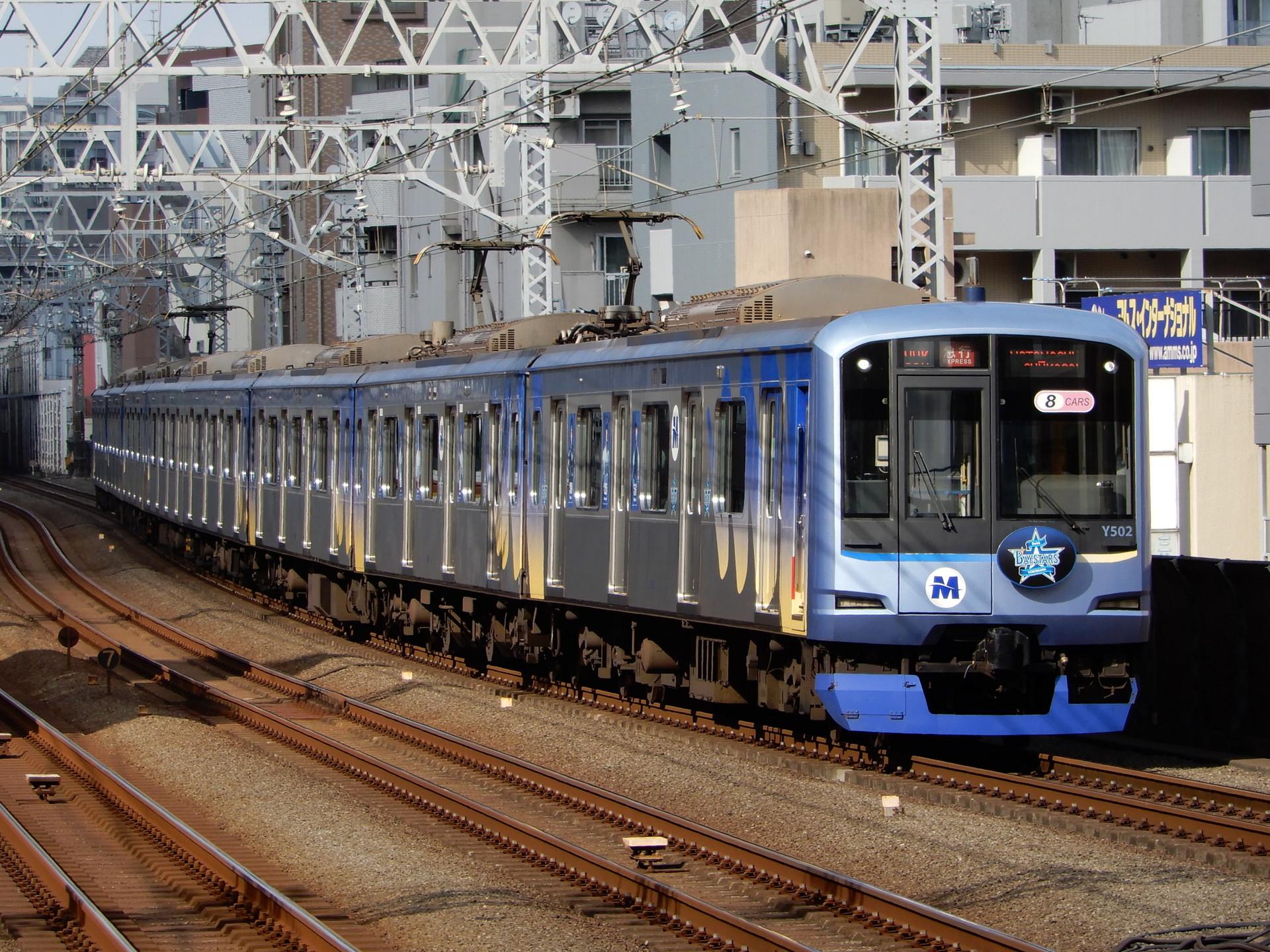 横浜高速Y500系Y512編成のベイスターズトレイン