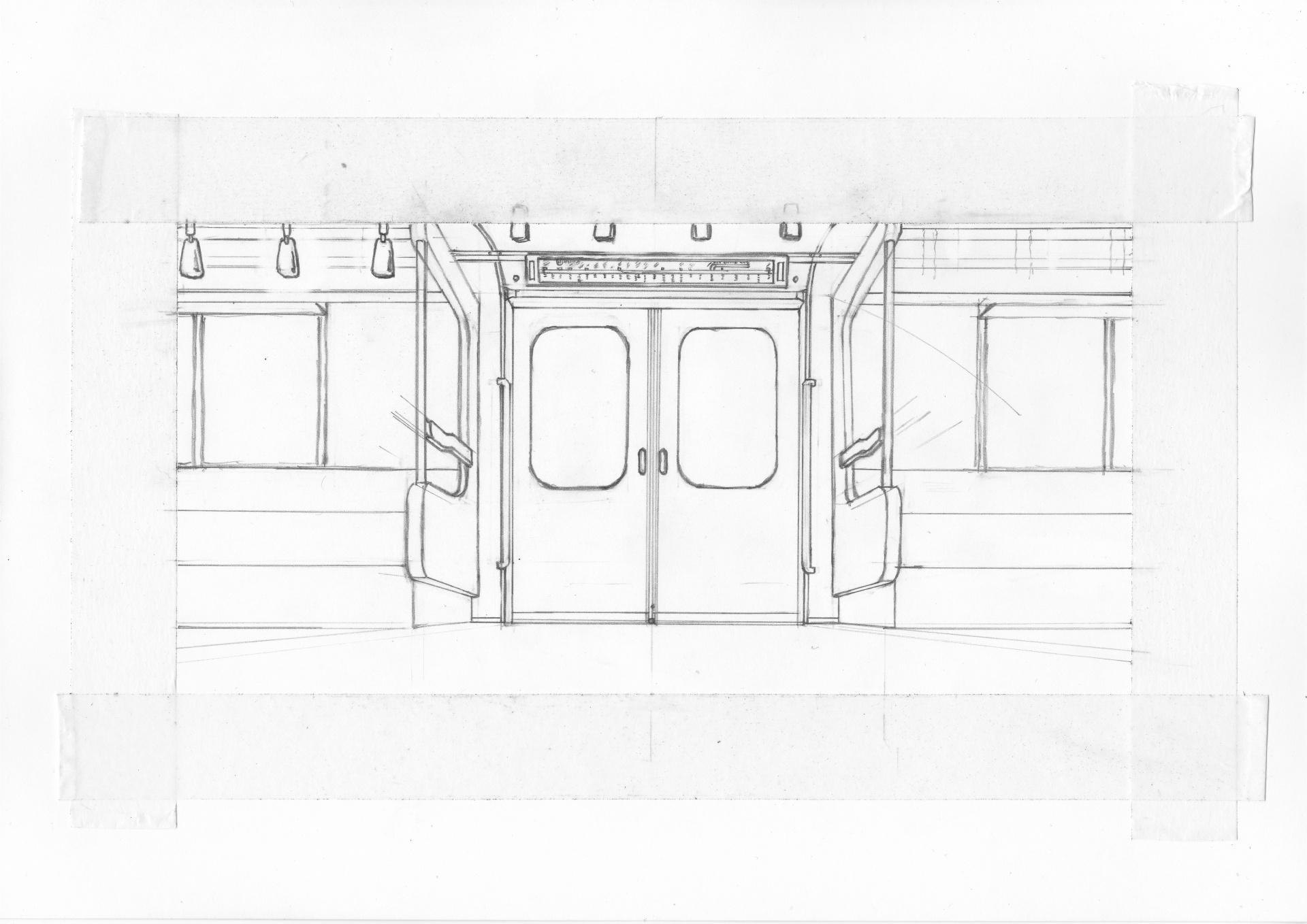 02系の車内路線図を描画