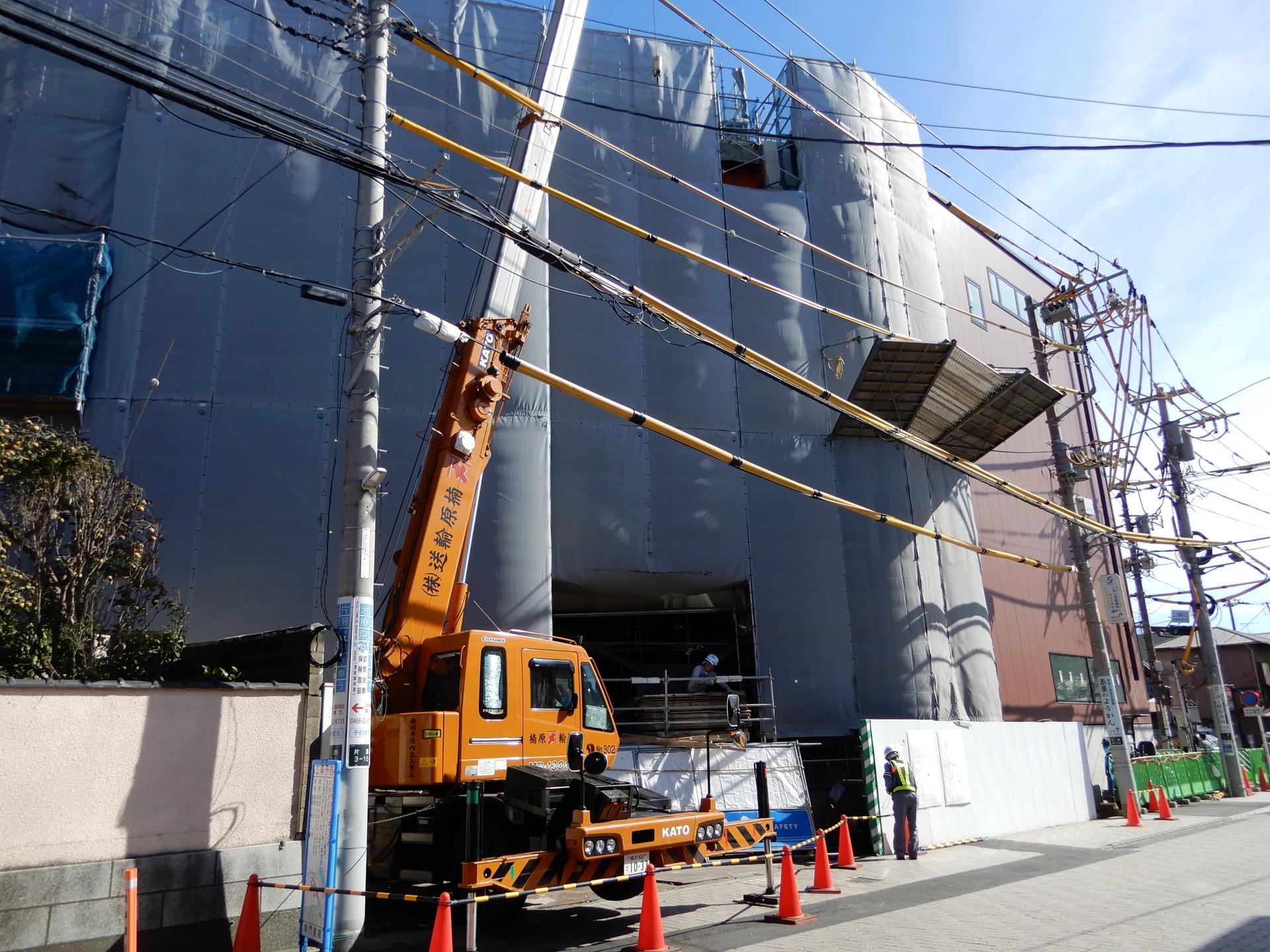 建設中の藤沢口
