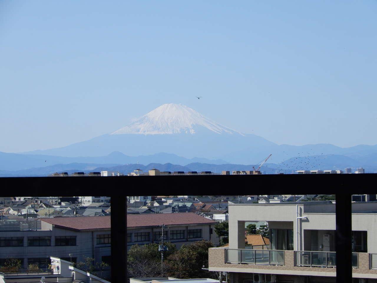 富士山の拡大写真