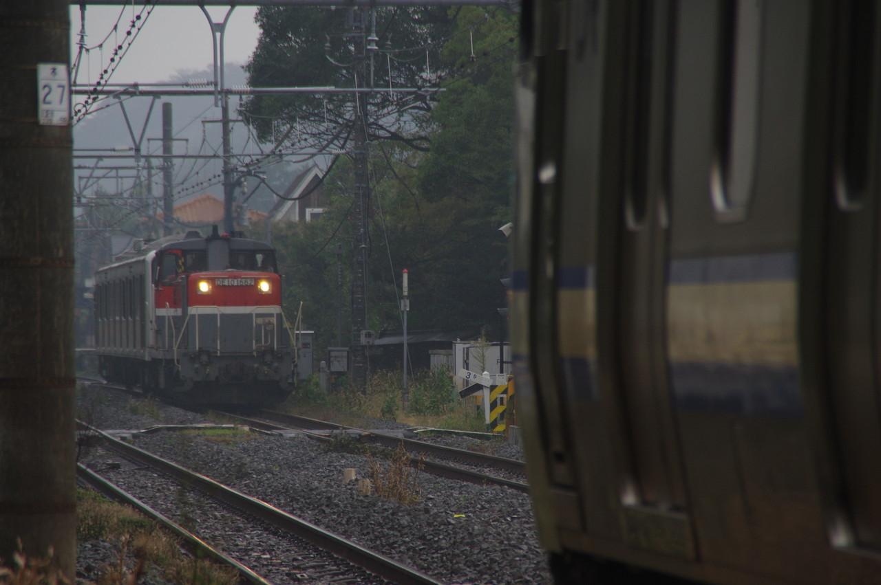 被られた列車