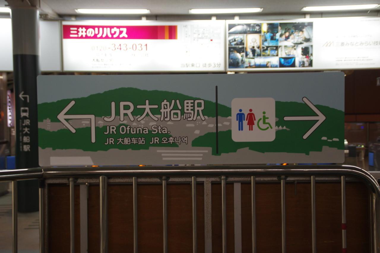 JR大船駅の位置案内