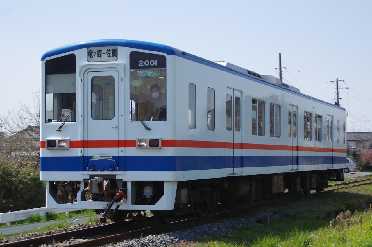関東鉄道キハ2001 竜ヶ崎行き