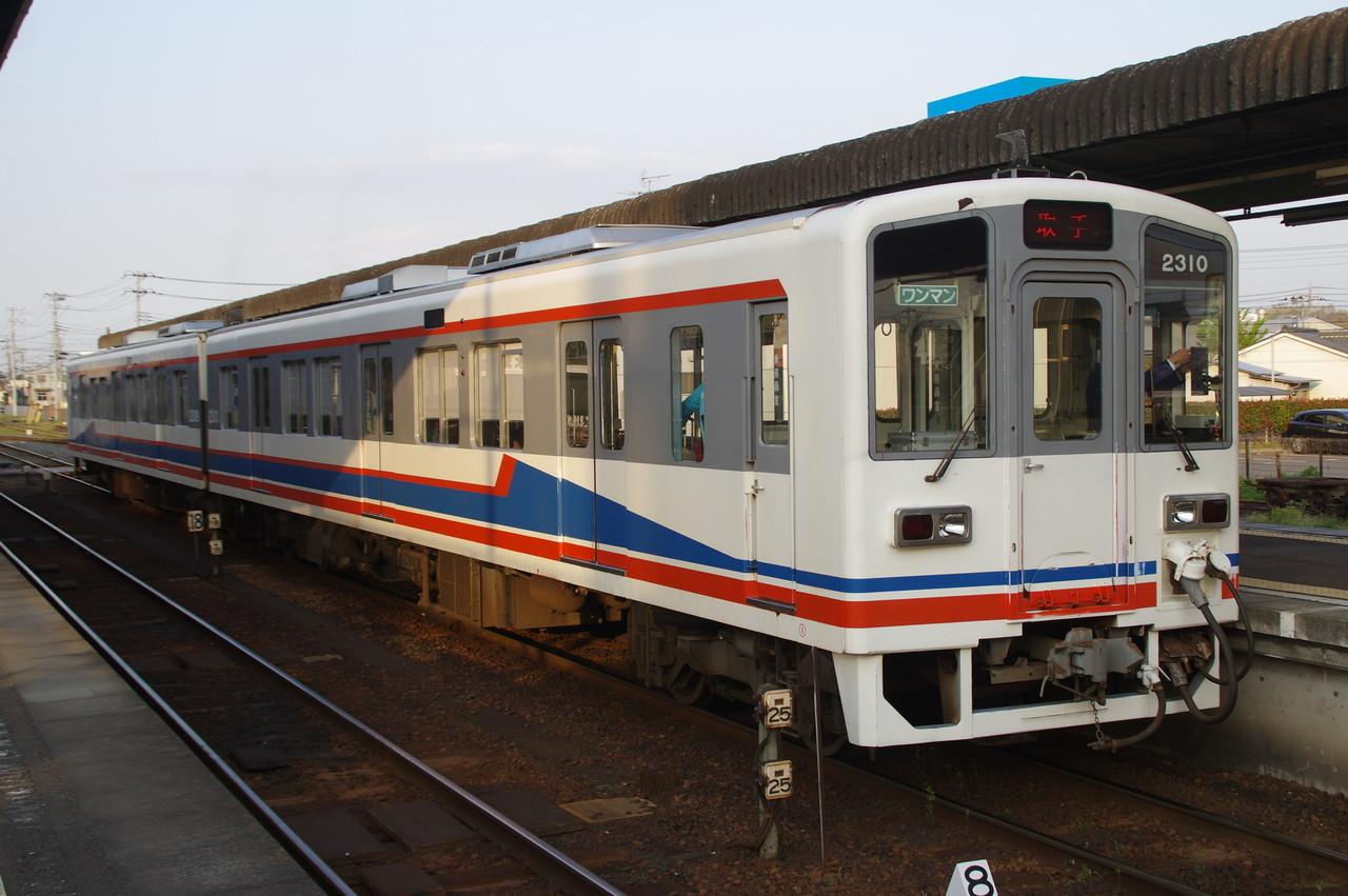 関東鉄道キハ2309+2310 停車中