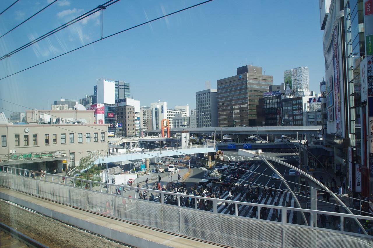 上野駅と中央通り