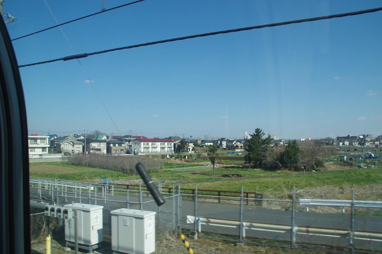 田畑と住宅街
